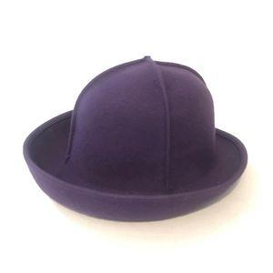 Via Tornabuoni Florence Wool Hat Purple Italy